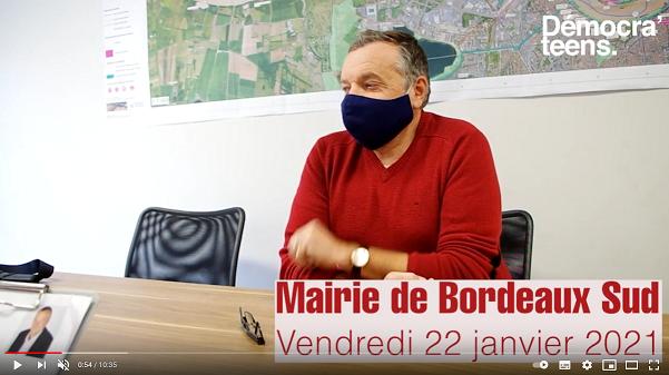 Démocra'teens – Olivier Cazaux, enseignant et maire adjoint de Bordeaux