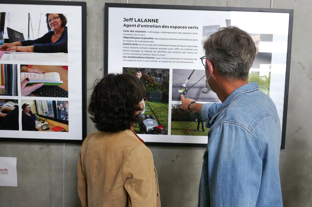 Expo photo sur les métiers des agent.es du collège
